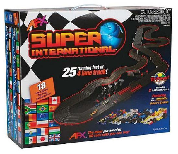 AFX Super International slot car set box