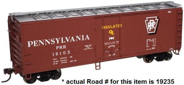 Atlas HO TRAINMAN 40' Plug Door Box Car Pennsylvania 19235