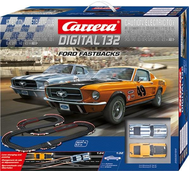 Carrera DIGITAL 132 Ford Fastbacks race set box