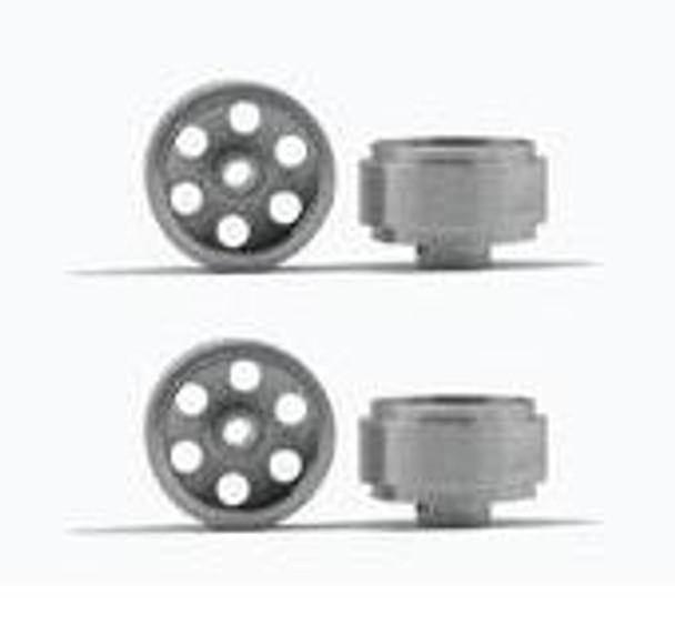 Hobby Slot Racing 16 mm x 10 mm Aluminum Wheels (4)