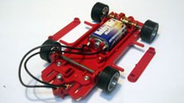 Hobby Slot Racing EVO 1/32 RTR Chassis - Red