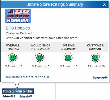 BRS Hobbies Bizrate ratings for 4/4/2019
