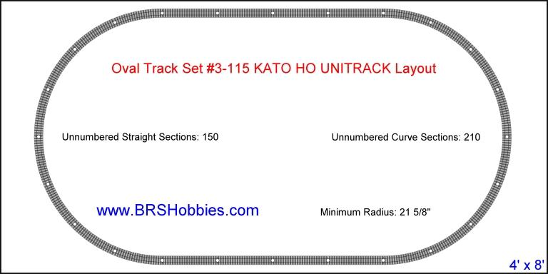Oval Track Set 3-115 KATO HO UNITRACK Layout photo KatoUNITRACKOval.jpg