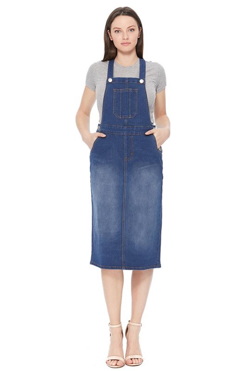 0af7f8fa890 Lena Overall Jumper Dress - The Klassy Girl Boutique
