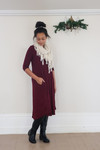 Cyber Deals T Shirt Swing Dress Burgundy