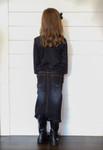 Girls Bridget Denim Skirt Dark Wash