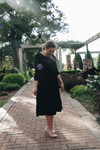 Reflective Moments Ruffle Swing Dress Black PRE ORDER 9/30