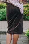 Aubrey Corduroy Skirt *Brown* Final Sale