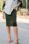 Aubrey Corduroy Skirt *Olive*