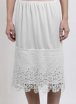 Skirt Slip Extender Scalloped Lace Ivory