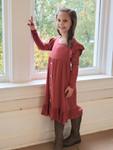 Pippa Marsala Ruffle Dress Girls