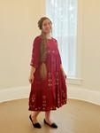 Hollie Embroidered Dress *Burgundy* Final Sale