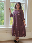 Hollie Embroidered Dress *Plum* Final Sale
