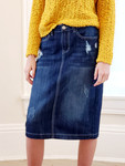 Allie Distressed Denim Skirt