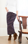 Klassy Girl Sport Skirt Navy Stripe