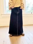 Cami Long Modest Denim Skirt Dark Wash *Girls*