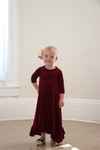 Willow Swing Dress Burgundy Velvet *Toddler Girls*