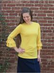 Andrea Ruffle Layering Shirt Mustard