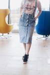 Keily Overall Denim Skirt