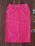 Colored Denim Skirt Pink  *Womens*