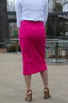 Colored Denim Skirt Pink  *Womens*