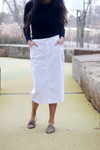 Colored Denim Skirt White *Womens*