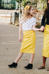 Colored Denim Skirt Yellow *Girls*