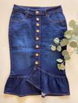 Mia Ruffle Denim Skirt *Dark Wash*