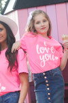 I Love You Graphic Tee *Girls*