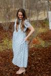Springtime Blues Polka Dot Dress