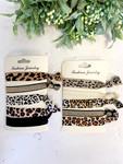 Leopard Hair Ties Pack of 5