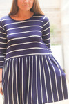 Classically Casual Stripe Top *Navy*