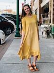 Willow Swing Dress Mustard Stripe *Womens*