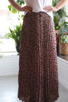 Dotty Pleated Maxi Skirt *Taupe*