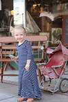 Willow Swing Dress Navy Stripe *Toddler Girls*