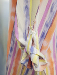 Chelsea High Low Button Shirt Top Pastel Stripe