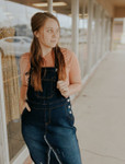 Riley Distressed Overall Jumper Dress