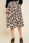 Bold Choices Leopard Print Midi Skirt