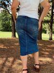 Brandy Embroidered Denim Skirt *Indigo Wash*