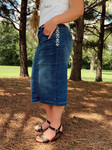 Brandy Embroidered Denim Skirt *Indigo Wash*