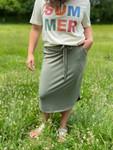 Amelia Drawstring Skirt *Sage*