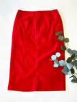 Colored Denim Skirt True Red *Womens*