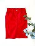Colored Denim Skirt Red *Girls*