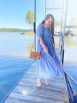 Wishful Thinking Dress *Dusty Blue*
