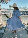 Southern Belle Ruffled Dress *Dusty Blue*
