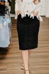 Ava Denim Skirt *Black Wash*