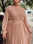 Mesmerized Polka Dot Pleated Chiffon Dress