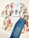 Floral Kimono *Ivory*