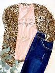 Animal Print Cardigan Kimono Shrug *Brown*