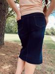 Amber Denim Skirt Dark Wash